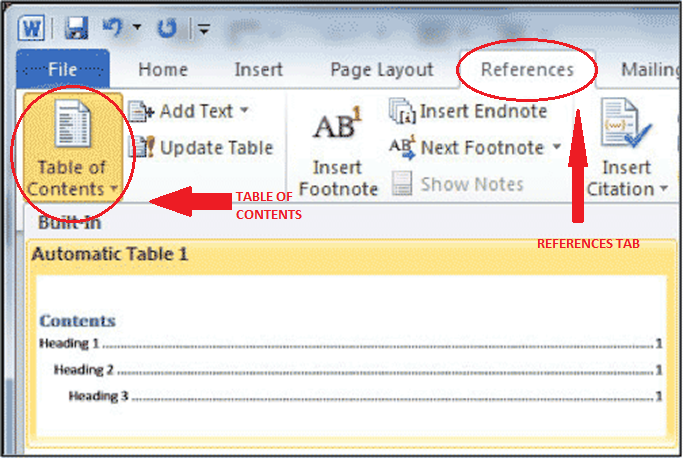 how to create a table of contents in word for mac 2008 3