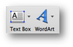 Text Box and Word Art button for word 2010