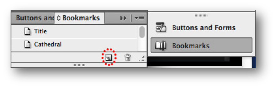 Bookmarks pain this new bookmark icon circled to highlight