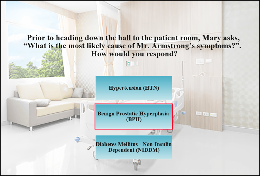 Quiz screen. Read caption text for complete information.