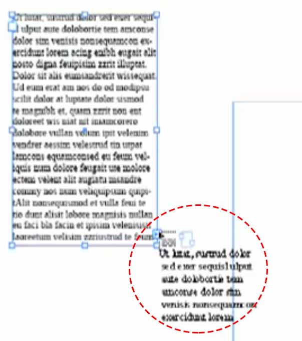 Example of Thread Text Marker carrying over text to form a new box while continuing content, screenshot
